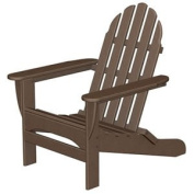 90cm Recycled Earth-Friendly Outdoor Patio Adirondack Chair - Mahogony