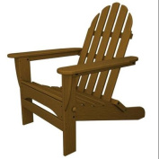 90cm Recycled Earth-Friendly Outdoor Patio Adirondack Chair - Teak Brown