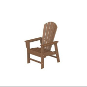 110cm Recycled Earth-Friendly Outdoor Patio Dinner Chair - Teak Brown