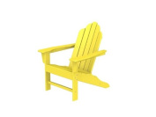 100cm Recycled Earth-Friendly Outdoor Patio Adirondack Chair - Lemon Yellow