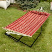 Bliss 120cm Tequila Sunrise Hammock with Pillow, Toasted Almond