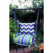 Magnolia Casual Regal Chevron Hammock Chair & Pillow Set