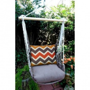 Magnolia Casual Retro Chevron Hammock Chair & Pillow Set