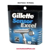 Gillette Sensor Excel Refills - 50 Cartridges