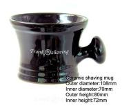 Ceramic Shaving Mug with Knob Handle -- Fits up to a 120ml Soap