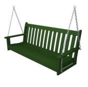 150cm Earth-Friendly Recycled Outdoor Patio Garden Chain Swing - Green