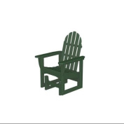 110cm Earth-Friendly Recycled Outdoor Patio Adirondack Glider - Green