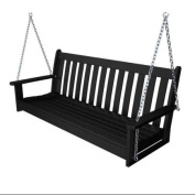 150cm Earth-Friendly Recycled Outdoor Patio Garden Chain Swing - Black