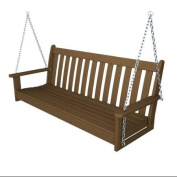 150cm Earth-Friendly Recycled Outdoor Patio Garden Chain Swing - Teak Brown
