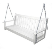 150cm Earth-Friendly Recycled Outdoor Patio Garden Chain Swing - White