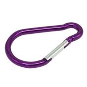 Hiking D Shaped Purple Clip Hook Large Aluminium Carabiner
