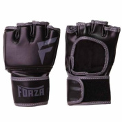 Forza MMA Vinyl Training Gloves - XS - Black/Grey