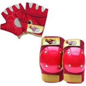 Bell Sports Ironman Child Gloves and Pad Set, Red