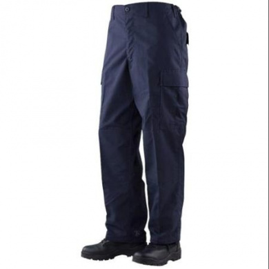Tru-Spec Gen-1 Police BDU Trousers Navy 65/35 Poly, Cotton RS, Large Regular