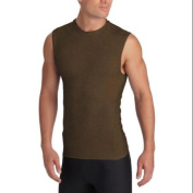 2XU Military Men's Compression Sleeveless Tops, Coyote, Small