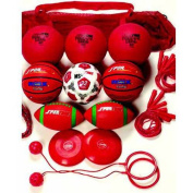 Sportime Grade 4 Recess Pack, Assorted Items, Red