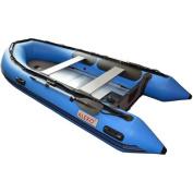 ALEKO Inflatable Boat 3.8m with Aluminium Floor 6-Person Raft Fishing Boat, Blue