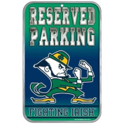 Notre Dame Fighting Irish Official NCAA 28cm x 43cm Reserved Parking Sign by Wincraft