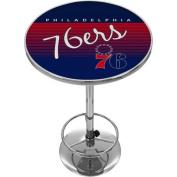 Philadelphia 76ers Hardwood Classics NBA Chrome Pub Table