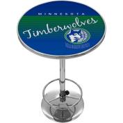 Minnesota Timberwolves Hardwood Classics NBA Chrome Pub Table