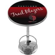 Portland Trailer Blazers Hardwood Classics NBA Chrome Pub Table
