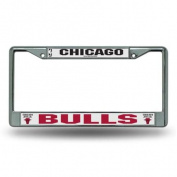 Chicago Bulls Official NBA 30cm x 15cm Chrome Licence Plate Frame by Rico Industries