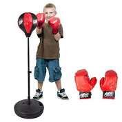 Apontus Toy Boxing Punching Bag with Gloves Punching Ball for Kids, 70cm - 100cm Stand