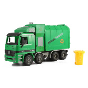 36cm Friction Powered Recycling Garbage Truck Toy for Kids with Side Loading and Back Dump
