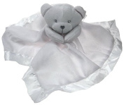 Baby Boys And Girls Super Soft Teddy Bear Comforter Blanket by Soft Touch White