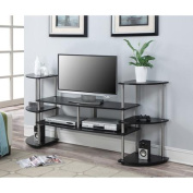 Convenience Concepts Designs2Go Black XL Multi-Level TV Stand for TV's up to 120cm