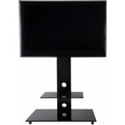 AVF Lesina Black Floor Stand with Mount for TVs 80cm - 140cm