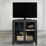 Sauder Soft Modern Charcoal Grey TV Stand for TVs up to 90cm