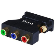DVI-I Male to 3 RCA Component Adapter w/ DIP Switch for ATI Video Cards