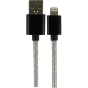 GE 26039 USB to Lightning Charge and Sync Cable, 2.7m