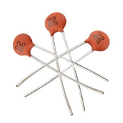 100 x Low Voltage DIP Ceramic Disc Capacitors 22pF 50V