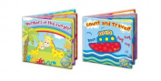 """First Steps"" Count & Travel Baby Floating Bath Book Educational & Fun Bath Toy for Baby"