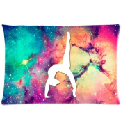 Gymnastic Galaxy Rectangle Zippered Pillowcase 20