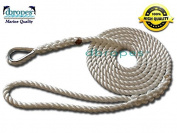 3 Strand Mooring Pendant Premium 100% Nylon Rope 0.2m X 2.4m with Thimble