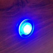 MARINE BOAT LED LIVEWELL ROUND BUTTON BLUE COURTESY LIGHT OEM WATERPROOF