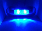 MARINE BOAT LED BLUE OBLONG STAINLESS STEEL COURTESY LIGHT AWESOME ACCENT
