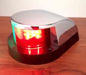 MARINE BOAT LED NAVIGATIONAL LIGHT CHROME PLATED COOL WHITE IP66 60LUMENS