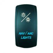 Laser Blue Rocker Switch NAV / ANC LIGHTS 20A 12V On/off LED Light