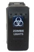 "SUNDELY® ""ZOMBIE LIGHTS"" 12V 24V ON/OFF Rocker Switch with Blue LED Backlit Carling ARB Narva Style"