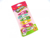Official Licenced Shopkins 6 x Hair Snap Clips Sleepies Grips