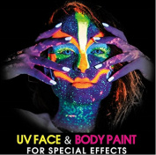 UV Glow Neon Face and Body Paint 10ml - Set of 6 Tubes