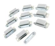 White Heavy Duty Magnetic Cupboard Door Catch Cabinet Door Holder Latch 10pcs