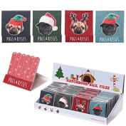Christmas Pug Nail File Matchbooks One of each design Pictured