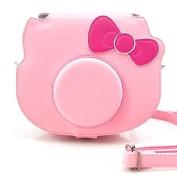 Fujifilm Hello Kitty Camera Case, HelloHelio [Pink Kitty] bowknot bag with an Adjustable strap For fuji instant camera hello kitty instax camera (2014) ¨C Pink