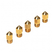WINOMO 0.4mm Brass Extruder Nozzle Print Heads for MK8 Makerbot Reprap 3D Printers 5pcs