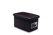 Stefanplast 2075887 Sparkling Mocha-Coloured Storage Box Plastic 19 x 29 x 16 cm